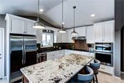 Transitional Style painted kitchen