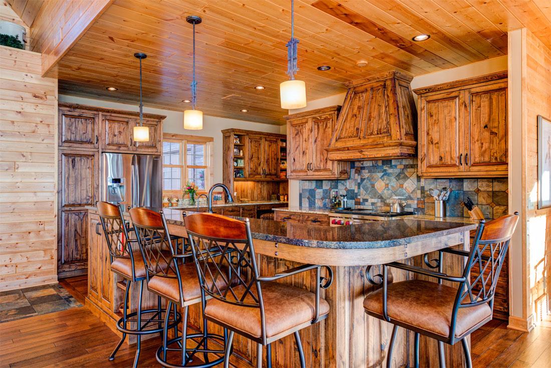 Sawmill Style rustic alder kitchen